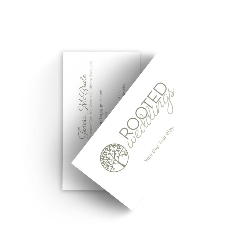 Rooted Weddings | Business Card | Broadbent Studio