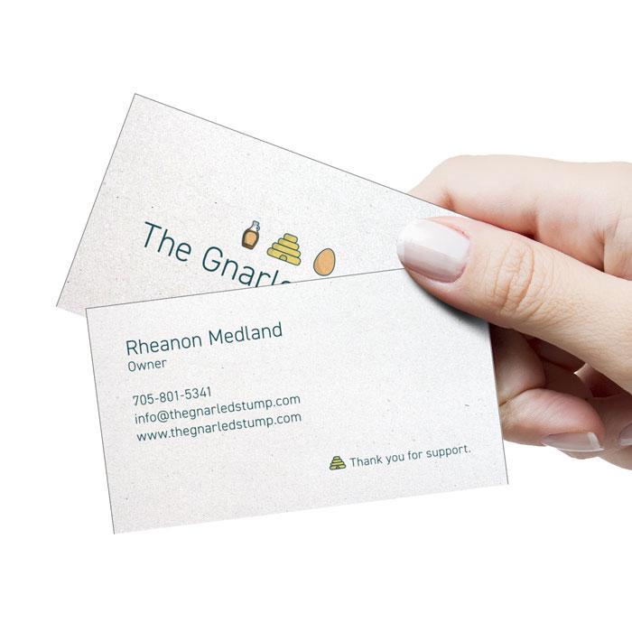 The Gnarled Stump   Business Card   Broadbent Studio